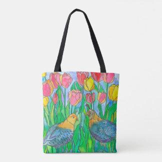 Wachtel-Vogel-Aquarell-Malerei Tasche