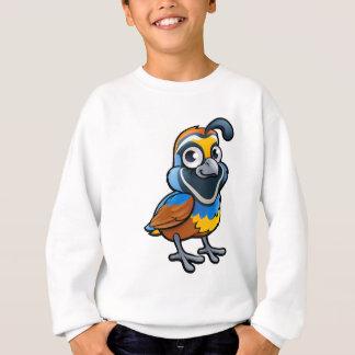 Wachtel-Vogel-Cartoon-Charakter Sweatshirt