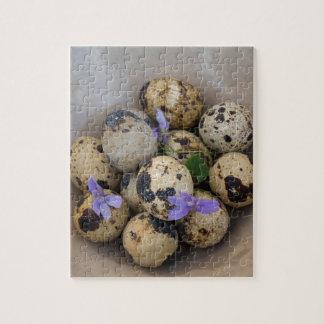Wachteleier u. Blumen 7533 Puzzle