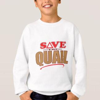 Wachteln retten sweatshirt