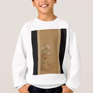 Wachteln unter Herbst-Blumen - Japan Sweatshirt
