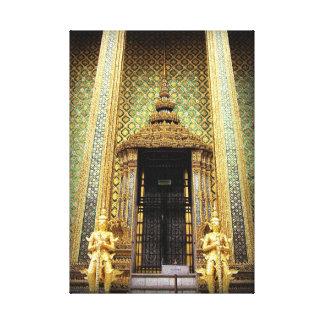 Wächter des goldenen Palast-Thailand-Fotos Leinwanddruck