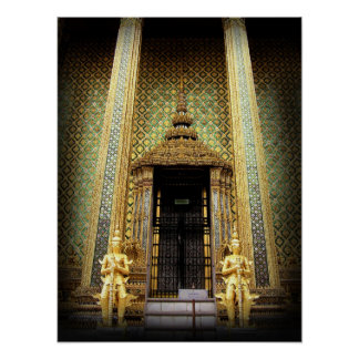 Wächter des goldenen Palast-Thailand-Fotos Poster
