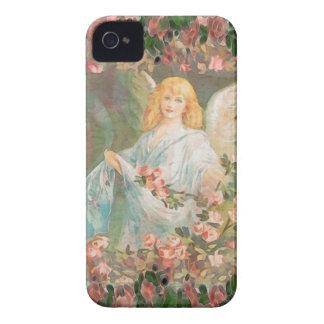 Wächter-Engel mit rosa Rosen iPhone 4 Hüllen