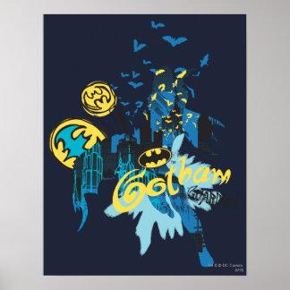 Wächter-Notizbuch-Skizze Batmans Gotham Plakatdruck