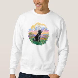 Wächter - schwarzes Labrador retriever Sweatshirt