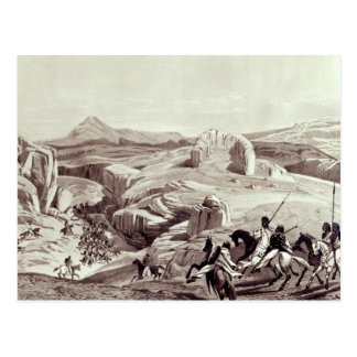 Wadela Hochebene, graviert durch J.Ferguson Postkarte