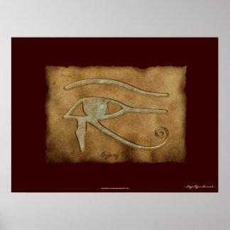 Wadjet ägyptisches Auge des Ra-Kunst-Plakats Poster