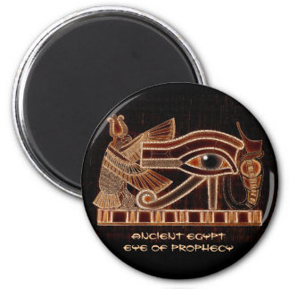 WADJET AUGE HORUS altes Ägypten des Kunst-Magneten Runder Magnet 5,1 Cm