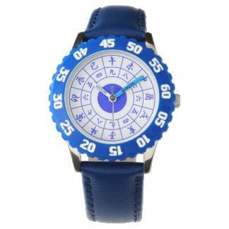 Wadokei Japaner-Uhr-Blau Armbanduhr