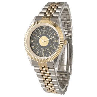 Wadokei Japaner-Uhr-Gold Armbanduhr