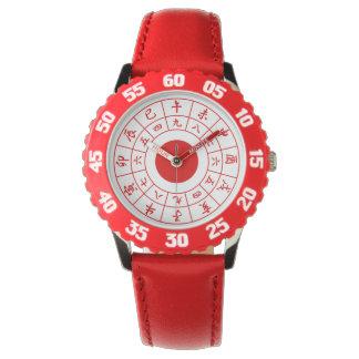 Wadokei Japaner-Uhr-Rot Uhr
