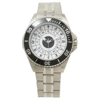 Wadokei Japaner-Uhr-Schwarz-Kanji Uhr