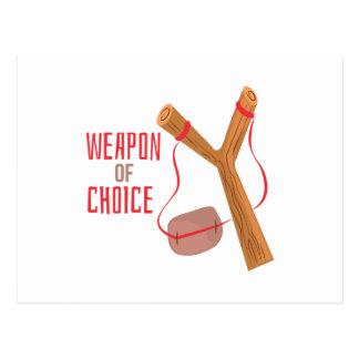 Waffe der Wahl Postkarte