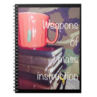 Waffen des Massenanweisungs-Notizbuches Spiral Notizblock