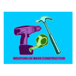 Waffen des Massenbaus Postkarte