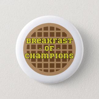 Waffle_Breakfast der Meister Runder Button 5,7 Cm