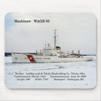 WAGB 83 Mackinaw Weiß mousepad