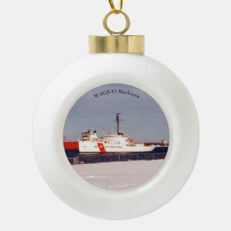 WAGB 83 Mackinaw weißer Ball oder Keramik Kugel-Ornament
