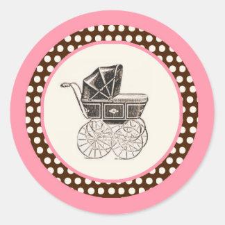 Wagen-Baby-französischer Babyparty-Aufkleber
