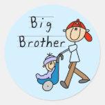 Wagen-Bruder-T-Shirts und Geschenke Runder Aufkleber