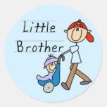 Wagen-kleiner Bruder-T-Shirts und Geschenke Runde Aufkleber