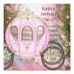 Wagen-rosa Rosen-Prinzessin Birthday Party Individuelle Einladung
