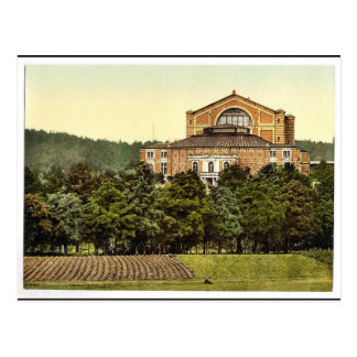 Wagners Theater (d.h. Festspielhaus), Bayreuth, B Postkarte