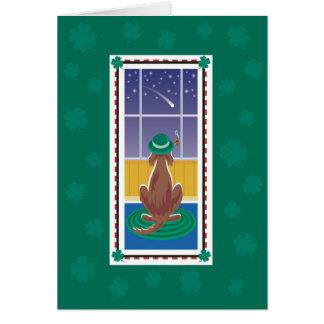 """WagsToWishes_ """", das Ihnen"""" St Patrick Tag wünscht Karte"""