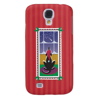 WagsToWishes®_Dog Knochen Stars_red Packpapier Galaxy S4 Hülle