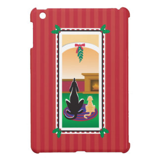 WagsToWishes®_Pets unter mistletoe_red-striped iPad Mini Hülle
