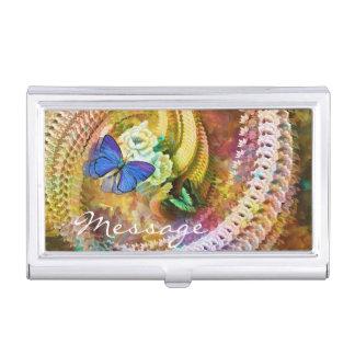 Wahlen der Schmetterlings-Kunst-53 Visitenkarten-Behälter