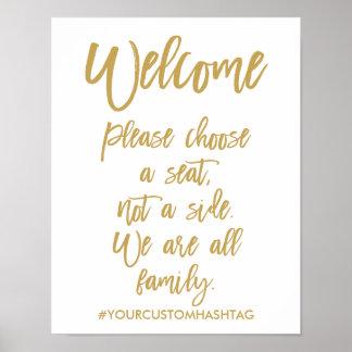 Wählen schicke Hand beschriftete Hochzeit bitte Poster