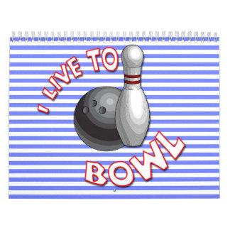 Wählen Sie Anfangsdatums-Bowling Wandkalender