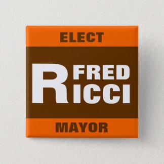 Wählen Sie Button-Abzeichen/-knopf Freds Ricci Quadratischer Button 5,1 Cm