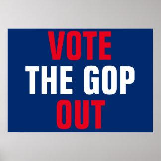 Wählen Sie den GOP heraus protestieren Poster