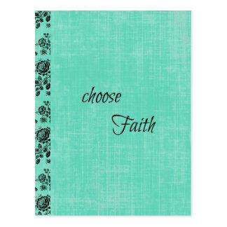 Wählen Sie den inspirierend Glauben Postkarte