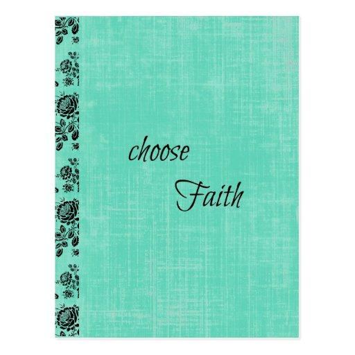 Wählen Sie den inspirierend Glauben Postkarten