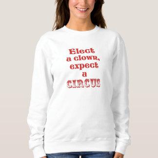 Wählen Sie einen Clown! Lustiges Sweatshirt