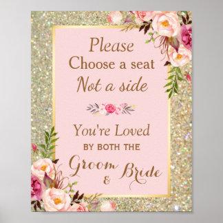 Wählen Sie einen Sitz nicht ein Blumen Seiten| Poster