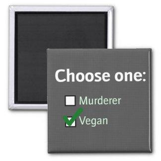 wählen Sie einen veganen Magneten Quadratischer Magnet