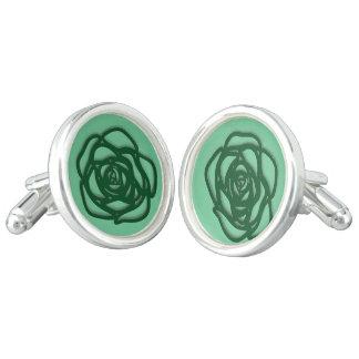 Wählen Sie FarbRose auf Grün Manschetten Knöpfe