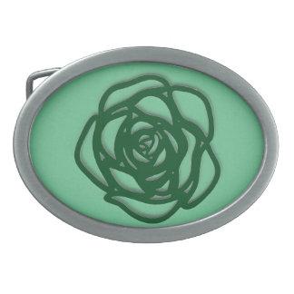 Wählen Sie FarbRose auf Grün Ovale Gürtelschnallen