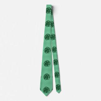 Wählen Sie FarbRose auf Grün Personalisierte Krawatte