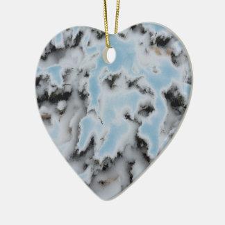 Wählen Sie Farbschnee-Camouflage Keramik Herz-Ornament