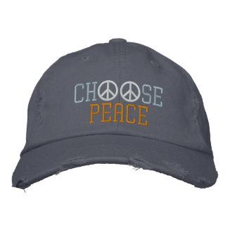 Wählen Sie Frieden Bestickte Baseballkappen