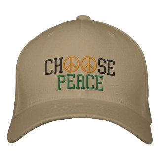 Wählen Sie Frieden Bestickte Mütze