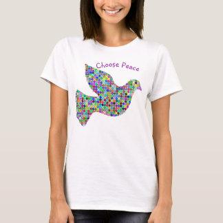 Wählen Sie Frieden mit Tauben-Grafik T-Shirt