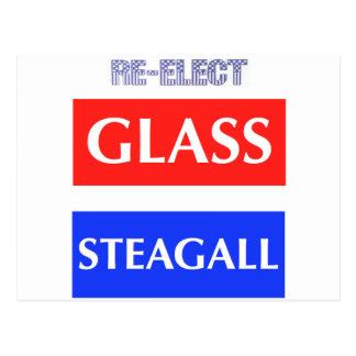 WÄHLEN Sie GlasSteagall wieder Postkarte