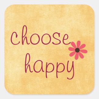Wählen Sie glückliche Bestätigung Quadratischer Aufkleber